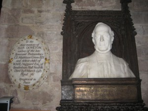 Ledbury - Herefordshire - St. Michael & All Angels - memorial plaque & bust