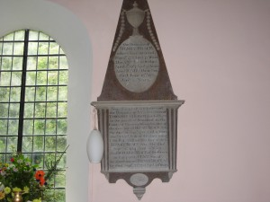 Acton Beauchamp - Herefordshire - St. Giles - memorial plaque 1