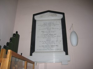 Acton Beauchamp - Herefordshire - St. Giles - memorial plaque 2