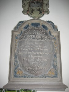 Bishops Frome - Herefordshire - St. Mary - memorial plaque