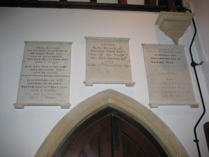 Bredenbury with Brendon Bishop and Wacton -Herefordshire - St. Andrew - memorial plaques