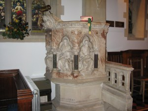 Bredenbury with Brendon Bishop and Wacton - Herefordshire - St. Andrew  - pulpit