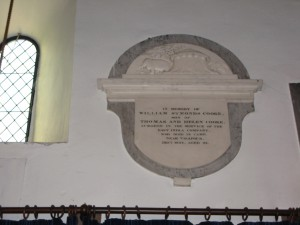 Breinton - Herefordshire - St. Michael - memorial plaque