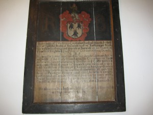 Breinton - Herefordshire - St. Michael - memorial plaque2