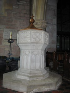 Bridstow - Herefordshire - St. Bridgets font