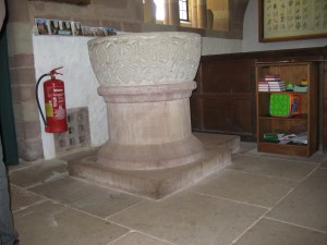 Brockhampton - Herefordshire - All Saints - font