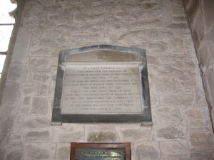 Bromyard - Herefordshire - St. Peter - memorial plaque