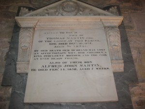 Burghill - Herefordshire - St. Mary - memorial plaque 2