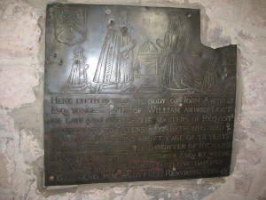 Burghill - Herefordshire - St. Mary - memorial plaque 3