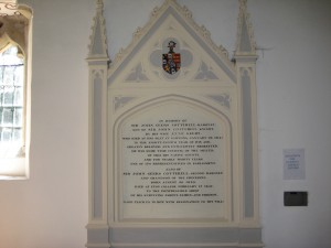 Byford_with_Mansell_Gamage_Herefordshire - St. John the Baptist - memorial plaque