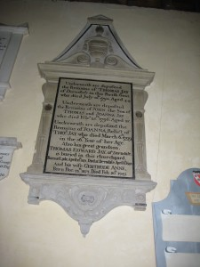 Canon Pyon - Herefordshire - St. Lawrence - memorial plaque