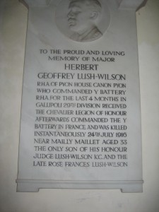 Canon Pyon - Herefordshire - St. Lawrence - memorial plaque 4