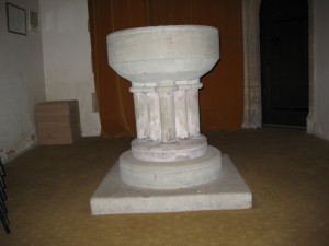 Coddington - Herefordshire - All Saints - font