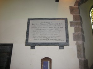 Credenhill - Herefordshire - St. Mary - memorial plaque Traherne
