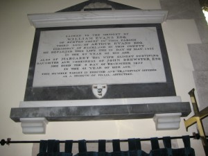 Eardisland - Herefordshire - St. Mary the Virgin - memorial plaque