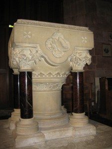 Eastnor-Herefordshire - St. John the Baptist. - modern font