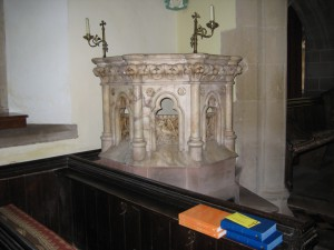 Felton_Herefordshire_St. Michael the Archangel - marble pulpit