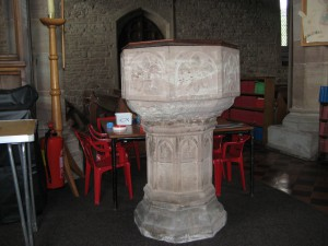 Fownhope - Herefordshire - St. Mary - tudor font