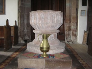 Foy - Herefordshire - St. Mary - font