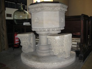 ganarew - herefordshire - St. Swithin - font