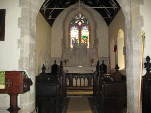 ganarew - herefordshire - St. Swithin - interior