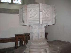 Hardwicke - Herefordshire - Holy Trinity - font