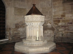 Hereford - Herefordshire - St. Peter - later font
