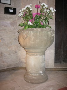 How Caple - Herefordshire - St. Andrew with St. Mary - Jacobean font
