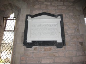 Kenchester - Herefordshire - St. Michael - memorial plaque