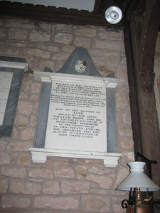 Kenchester - Herefordshire - St. Michael - memorial plaque2