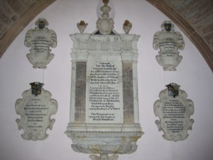 Kings Caple - Herefordshire - St. John the Baptist - memorial plaques