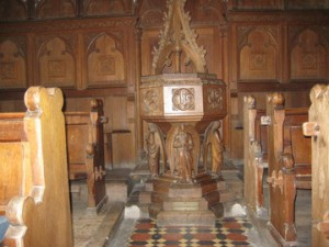 Kings Pyon - Herefordshire - St. Marys - font 2 wood