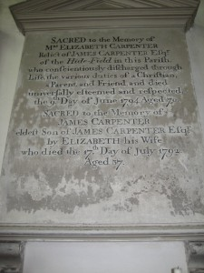 Kings Pyon - Herefordshire - St. Marys - memorial plaque