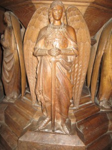 Kings Pyon - Herefordshire - St. Marys - wooden font detail