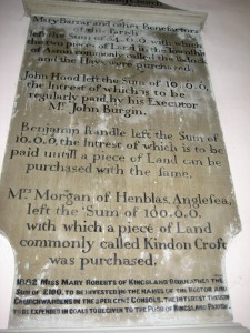 Kingsland - Herefordshire - St. Michael & All Angels - memorial
