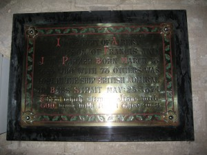 kington brass plaque