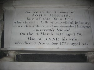 Kington - Herefordshire - St. Mary the Virgin - memorial plaque