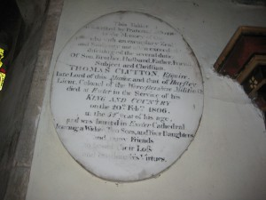Kinnersley - Herefordshire - St. James - clutton memorial