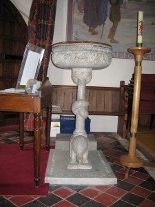 Lea - Herefordshire - St. John the Baptist - font