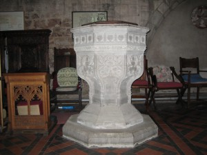 Leominster - Herefordshire - St. Peter & St. Paul Priory - victorian font