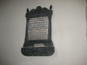 Lugwardine - Herefordshire - St. Peter - memorial
