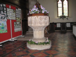 Marden_with_Amberley__Wisteston - Herefordshire - St. Mary - font