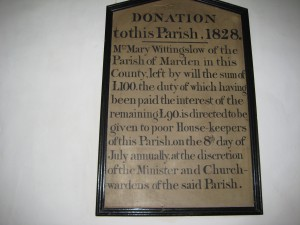 Marden_with_Amberley__Wisteston - Herefordshire - St. Mary - plaque