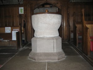 Moccas - Herefordshire - St. Michael & All Angles - font