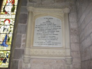 Moccas - Herefordshire - St. Michael & All Angles - memorial plaque