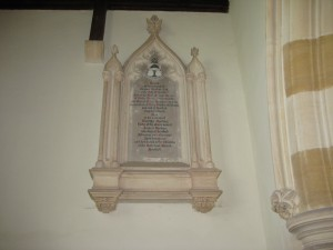 Norton Canon - Herefordshire - wall memorial