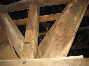 Pembridge - Herefordshire - St. Mary - bell tower interior
