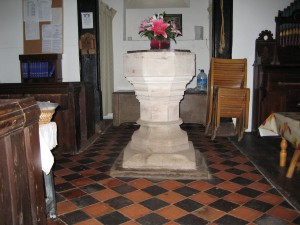 Pixley - Herefordshire - St. Andrew - font