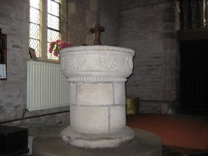 Preston on Wye - Herefordshire - St. Laurence - font