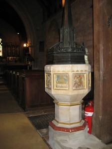 Putley - Herefordshire - Parish Church - font